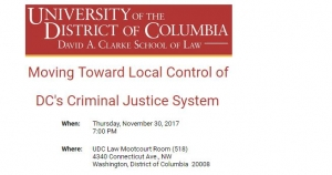Please Join Us at a Forum at UDC-DCSL