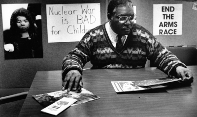 Acie L. Byrd Jr., longtime D.C. activist on behalf of veterans, D.C. statehood and nuclear disarmament, in 1990. He was also a founder of WPFW-FM radio in Washington.