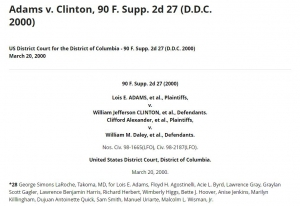 Adams v. Clinton