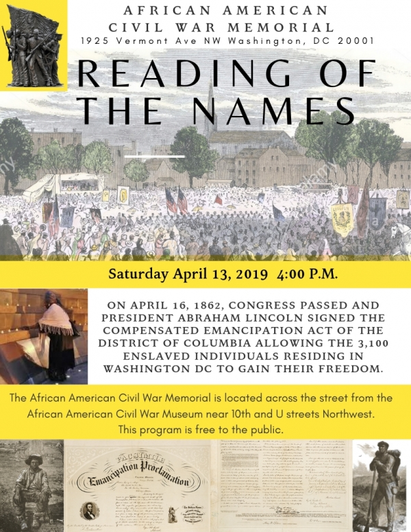READING OF THE NAMES 2019