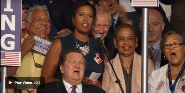 D.C. Mayor Muriel Bowser pushed for the District of Columbia's statehood while casting votes at the Democratic convention