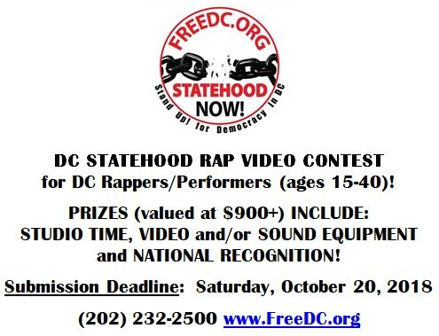 INEW: DC Statehood Rap Video Contest!