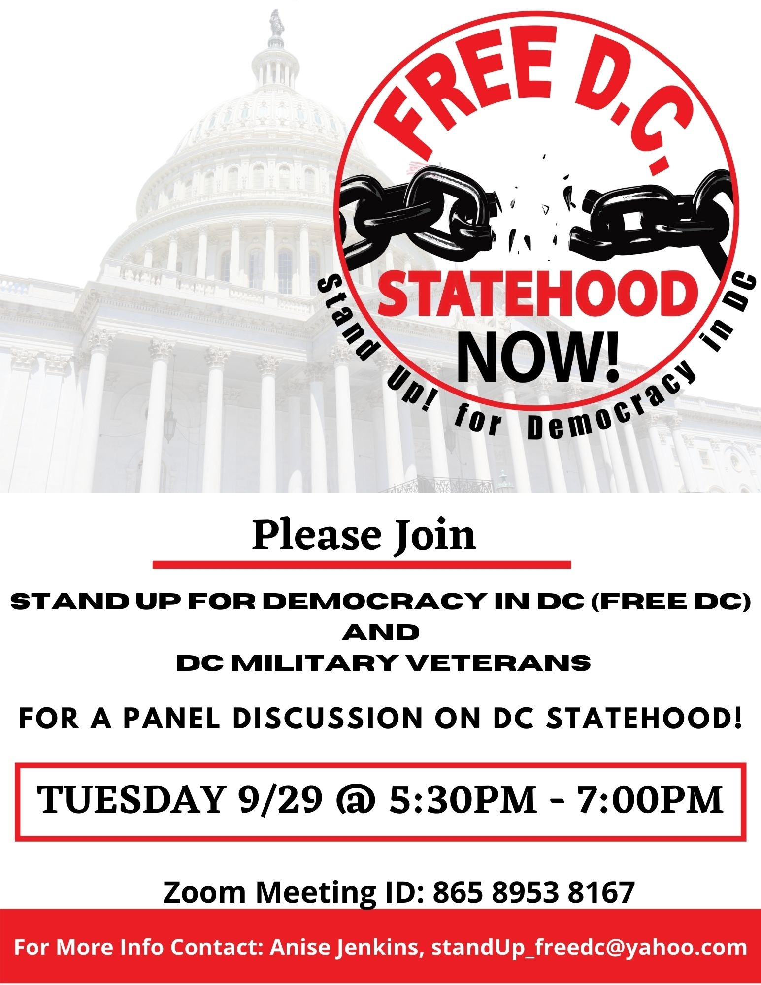 IDC Military Veterans Panel on DC Statehood