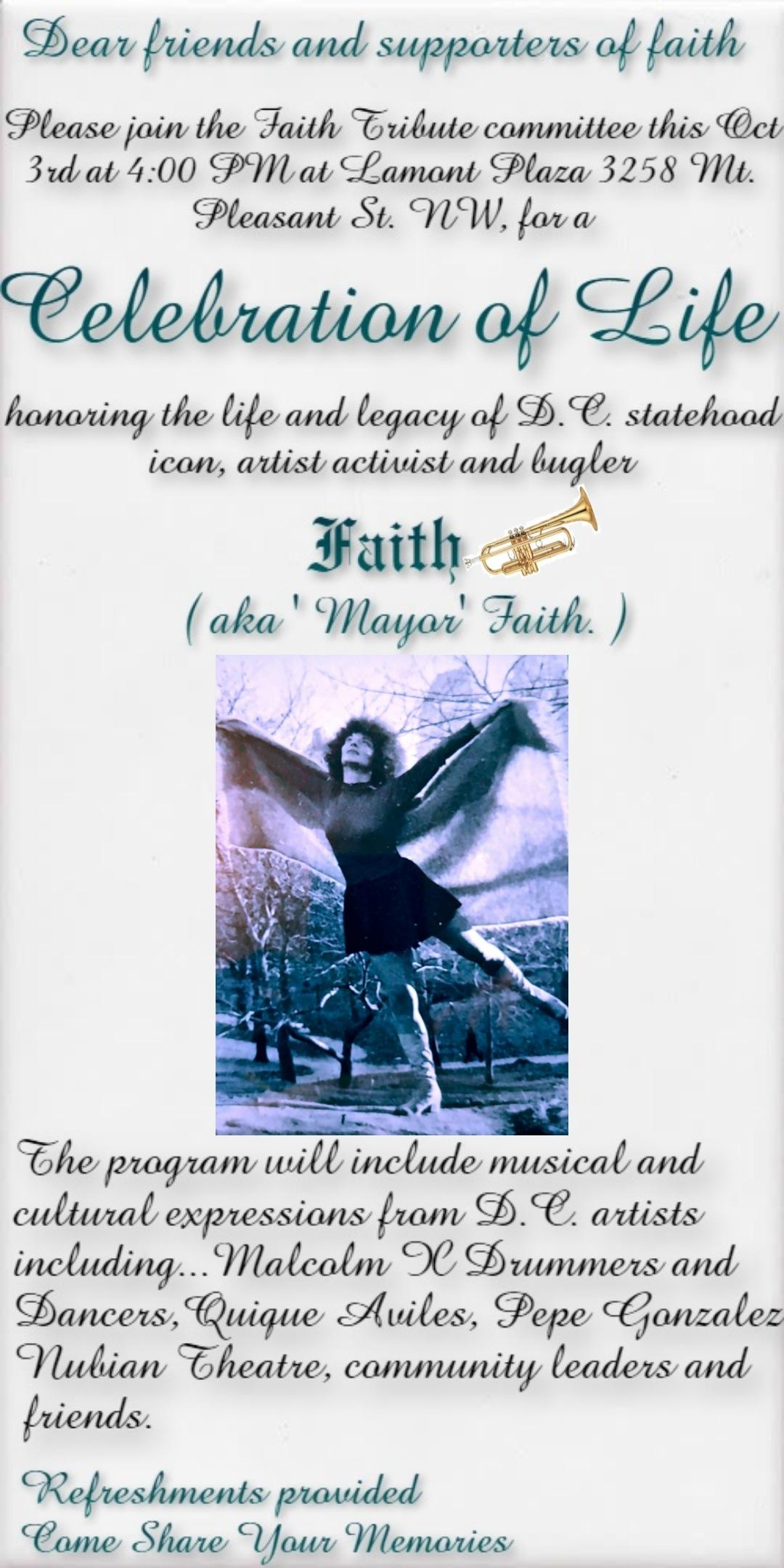 ICelebration of Life & Legacy: Faith Dane